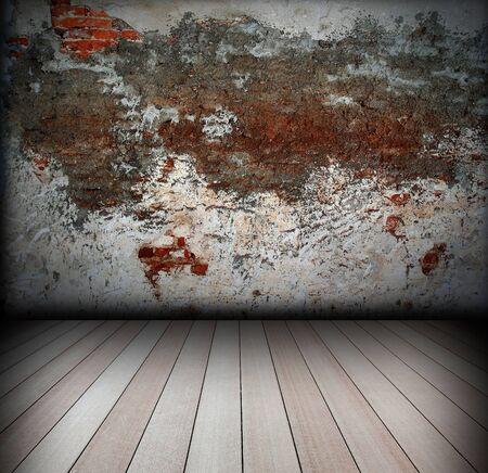 brick wall and wood floor Stock Photo - 8146254
