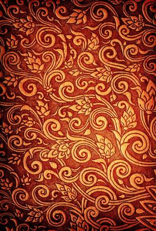 folk art: Thai texture in thailand Temple