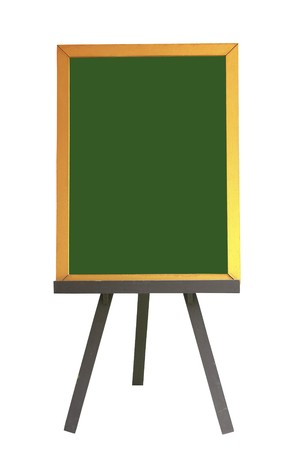Empty old wooden pub menu board isolated on white photo