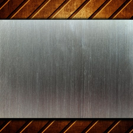 metal template background Stock Photo - 8146309