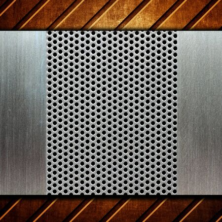 silver texture: metal template background Stock Photo