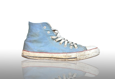 blue sneaker isolated on white background photo