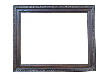 Black wooden picture frame, cut out Stock Photo - 8317045
