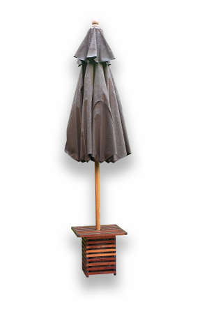 black umbrella isolated on white Stock Photo - 8317184