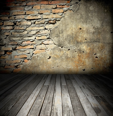 old room with brick wall Stock Photo - 8485649