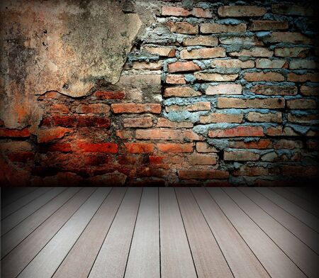 old room with brick wall Stock Photo - 8485647