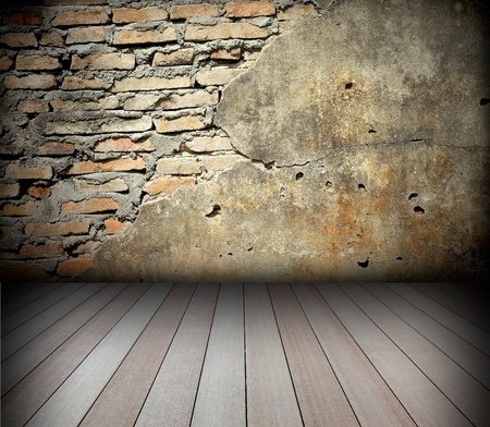 old room with brick wall Stock Photo - 8485646