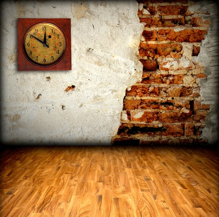 old room with brick wall Stock Photo - 8485638