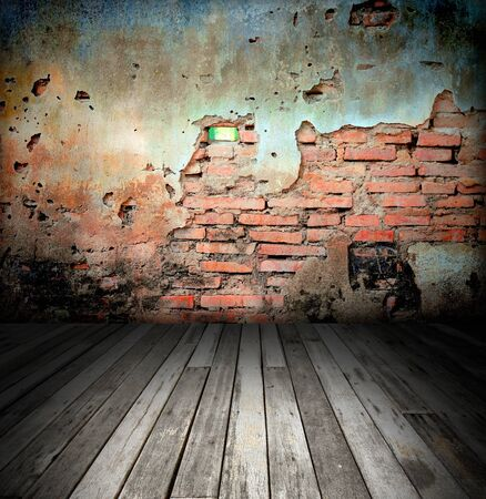 old room with brick wall Stock Photo - 8485666