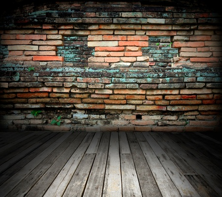 old room with brick wall Stock Photo - 8485663