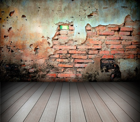 old room with brick wall Stock Photo - 8485665