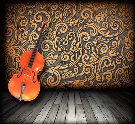 folk music: Empty Cello Room Interior