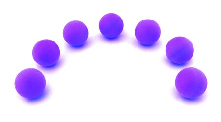 eyecatcher: balls arranged along circle  on white. Uniqueness concept image