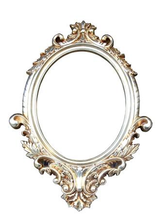ovalo: Marco vintage ornamentada con trazado de recorte Foto de archivo