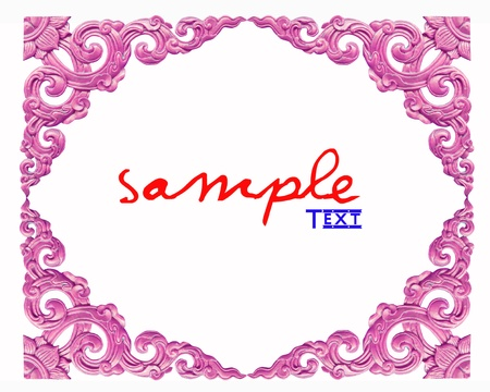 Thailand traditional pattern on white background Stock Photo - 8622169