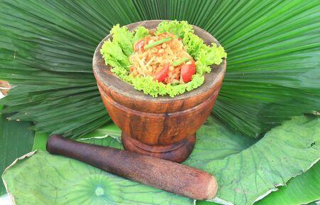 green papaya salad,Thai cuisine photo