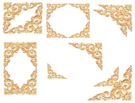 Thailand traditional pattern on white background Stock Photo - 8750292