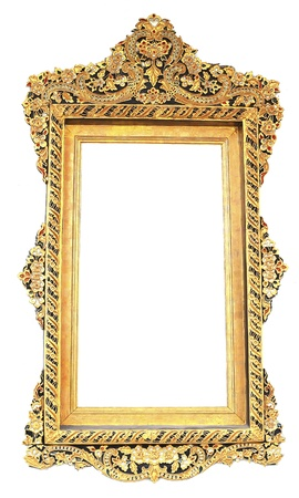 Picture gold frame Thai style Stock Photo - 8865114