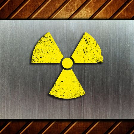 nuclear danger warning background Stock Photo - 9069950