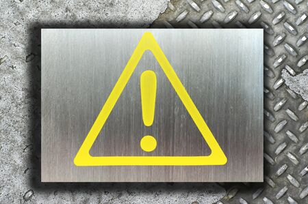 warning sign on white background Stock Photo - 9069911