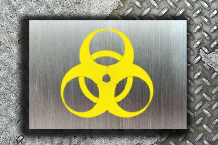 nuclear danger warning background Stock Photo - 9069910