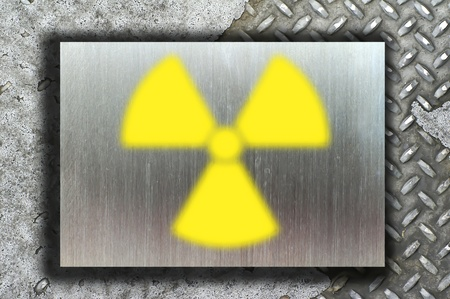 nuclear danger warning background Stock Photo - 9069908