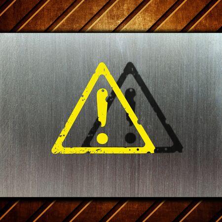 warning sign on white background Stock Photo - 9069951