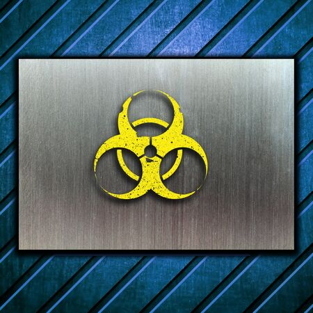 nuclear danger warning background Stock Photo - 9069947