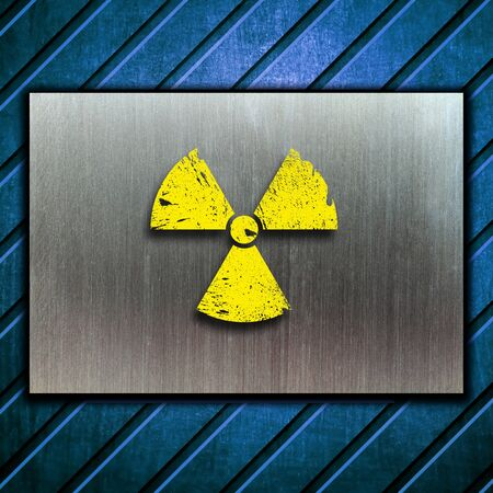 nuclear danger warning background Stock Photo - 9069945