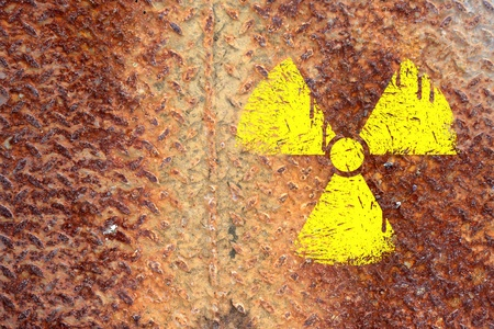 nuclear danger warning background Stock Photo - 9069929