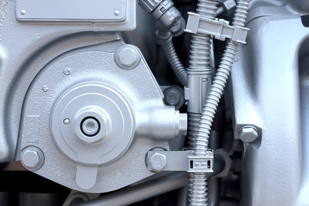 Engine in Close up photo