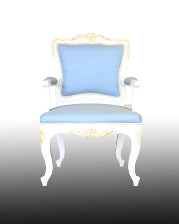 Classic glossy blue chair, isolated on a white background Stock Photo - 9413052