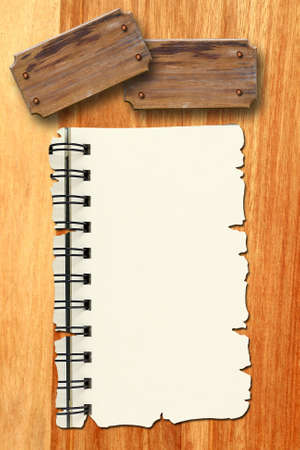 Empty white Crumpled paper on wood background Stock Photo - 9440256