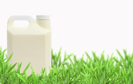 glass of milk isolated white background photo