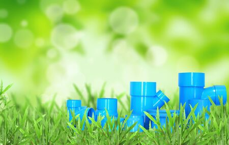 malleable: Natural green blurred background and pvc