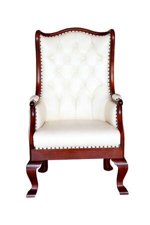 Isolated: luxury arm chair on White background photo