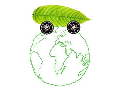 car around earth globe Stock Photo - 9488969