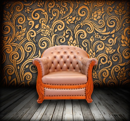 interior grunge room with classic sofa Stock Photo - 9521089