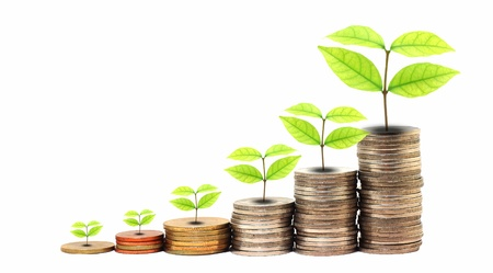 earn: Aumentar sus ahorros Foto de archivo