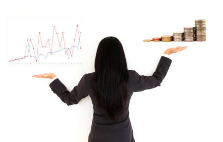 Profit Growing - Business women and diagram photo