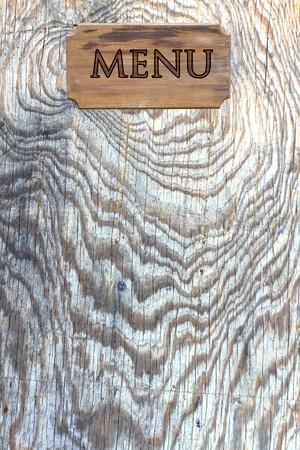 slate board: Menu wood on wood wall