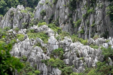 high mountain view near the village, Saraburi, Thailand. Stock Photo - 10117526