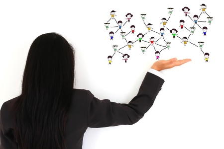 social network structure Stock Photo - 10117618
