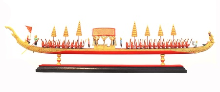 Thailands   Barge Procession   model isolated on white background photo