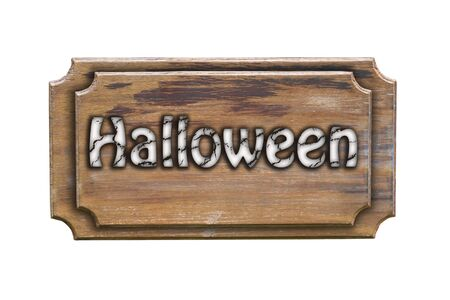 Halloween sign wood photo