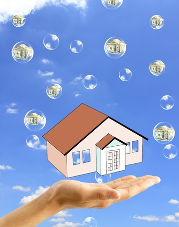 Real-Estate Bubble on the background sky photo