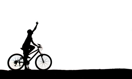 mountain biker man silhouette photo