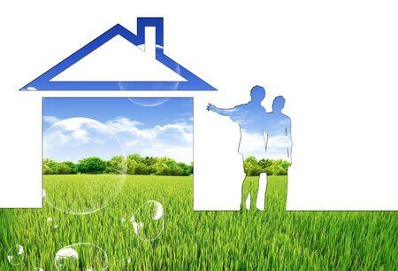 Eco house concept photo