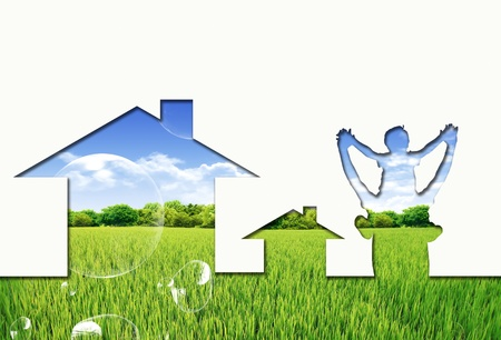 Eco house concept Stock Photo