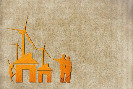 Wind power station recycled paper Stock Photo - 10487753